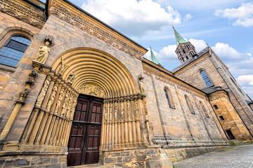 Wall Mural - Das Fürstenportal an der nördlichen Langhausseite des Bamberger Doms