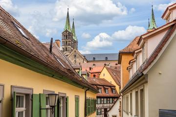 Wall Mural - Historisches Bamberg mit Dom in Oberfranken, Deutschland