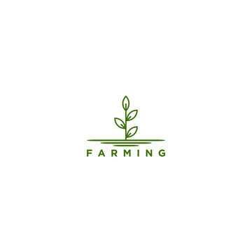 Agriculture logo - farming growing environment