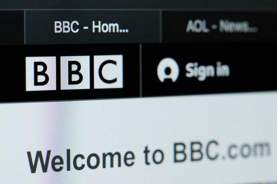 BBC news home page