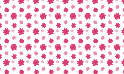 Türaufkleber Künstlich Red Browalia Flower Pattern Background