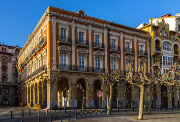 Portugalete town hall building in Solar Plaza, Basque Country, Spain