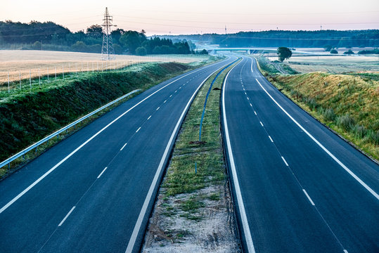 empty two lane road