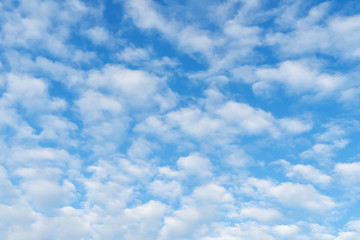 Aluminium Prints Heaven Picturesque blue sky with white clouds. Sky background with daylight.