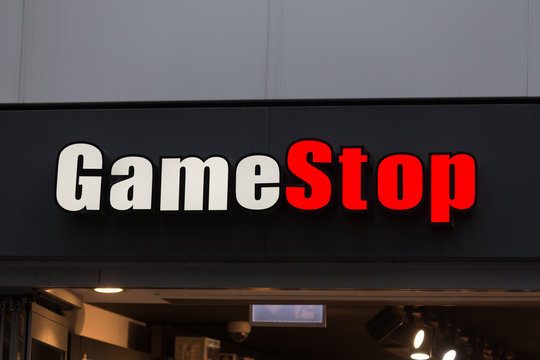 cologne, North Rhine-Westphalia/germany - 17 10 18: game stop sign in cologne germany
