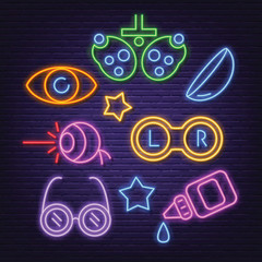 optical neon icons