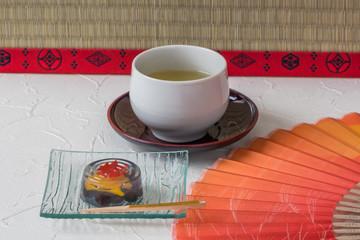 和風寒天ゼリー  Japanese dessert sweets with clear agar