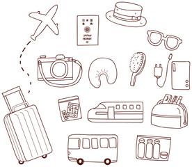 旅行のアイコンセット