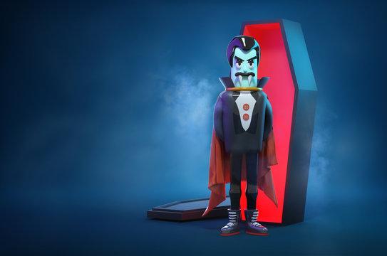 Halloween Vampire and Coffin Character