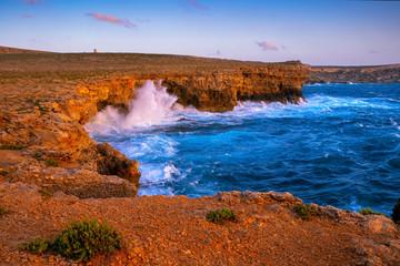 Fototapete - Malta nature. Coast at Popeye village.