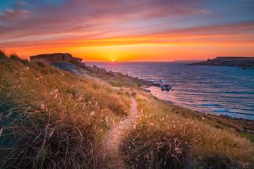 Fototapete - Path to sunset