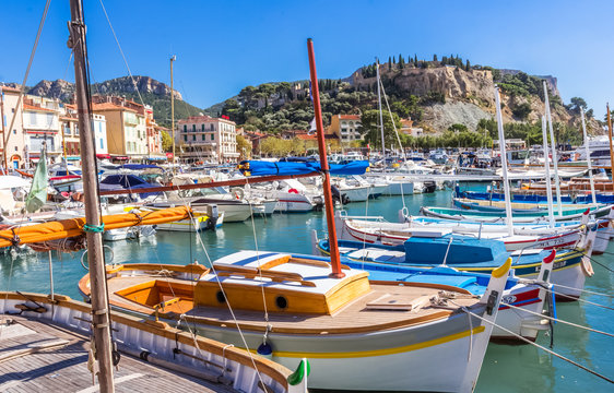 boats in harbor, Cassis, France