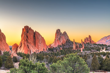 Fototapete - Garden of the Gods, Colorado Springs, Colorado