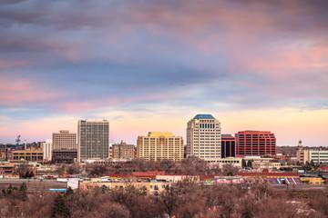 Fototapete - Colorado Springs, Colorado, USA downtown city skyline