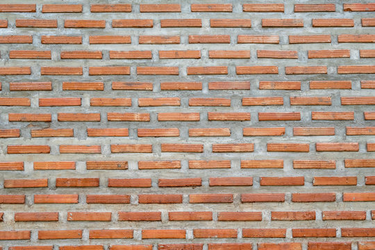 Pattern of red brick wall background