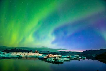 Foto op Aluminium Noorderlicht Northern Lights In Iceland