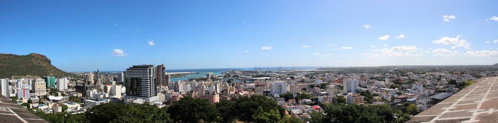 Panoramabild von Port Louis - Hauptstadt Mauritius