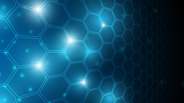 blue abstract hexagon net technology background,futuristic hexagon tech background,cyberspace technology background,3d innovative background