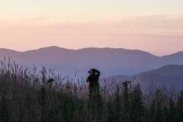 Max Patch in the Smoky Mountains in North Carolina