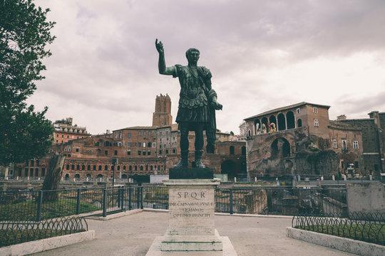 Sculpture of the Roman Emperor Augustus Caesar (Caesari Nervae)