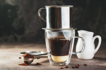 Fototapeta Coffee dripping in vietnamese style obraz