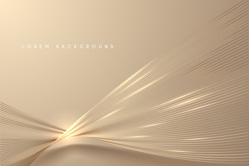 Foto auf AluDibond Abstrakte Welle Abstract gold light threads background