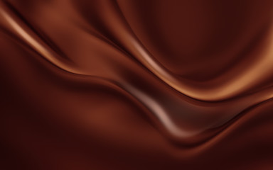 Melting chocolate full screen.