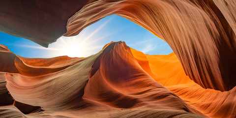 Foto op Plexiglas Arizona antelope canyon in arizona - background travel concept