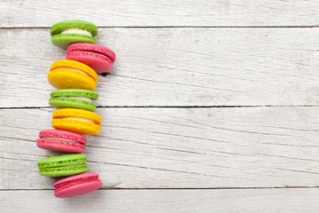 Foto auf Leinwand Macarons Cake macaron or macaroon sweets