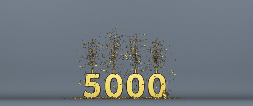 thank you for 5000 followers