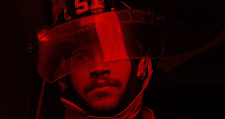 Fire fighter face - close up
