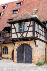 Fototapete - Alte Hofhaltung, Historisches Bamberg - Deutschland