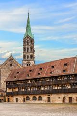 Fototapete - Historisches Bamberg - Alte Hofhaltung und Dom, Deutschland