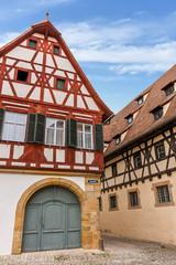 Fototapete - Historische Fachwerkhäuser in Bamberg - Domstraße