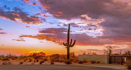 Fotobehang Arizona Sunset Desert Skies Over North Scottsdale AZ