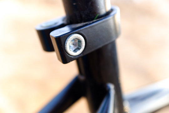 Allen nut from the seat of a bicycle.