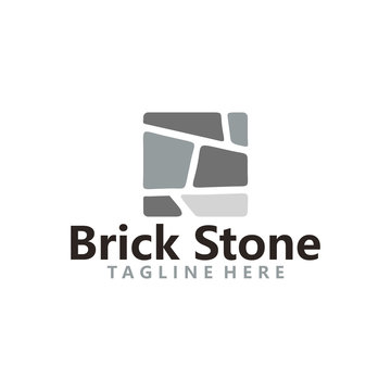 brick stone logo icon vector
