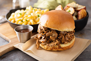 Pulled pork sandwich Wall mural