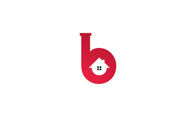 "home logo design, the letter ""B"" is designed to be a symbol or Icon of the house vector"