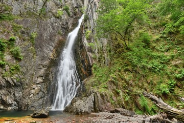 waterfall in forest in northwest Scotland