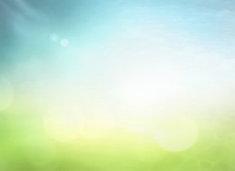 World environment day concept: Abstract blurred nature background