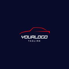 colorful car silhouette logo design template