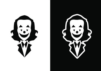 joker logo icon design vector illustration