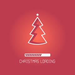 Christmas loading bar. vector holiday illustration EPS10