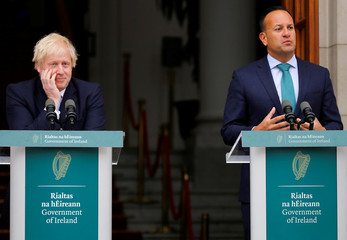 Britain's Prime Minister Boris Johnson meets with Ireland's Prime Minister (Taoiseach) Leo Varadkar in Dublin