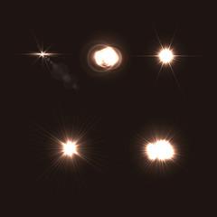 Set of Vector Optical Lens Flares