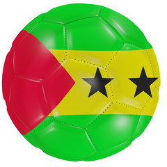 Sao Tome and Principe flag on a soccer ball