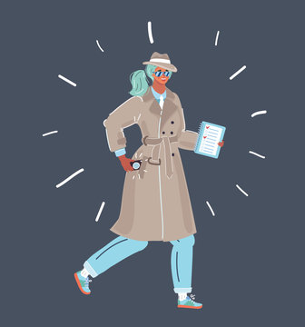 spy woman in coat