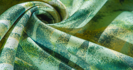 silk fabric steppe meadow print on fabric, soft, velvet, tissue, textile, cloth, web, material