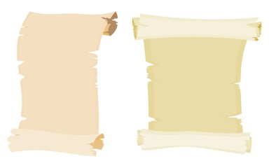 parchment collection cartoon style drawing picture